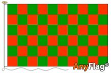 RED AND GREEN CHECK ANYFLAG RANGE - VARIOUS SIZES
